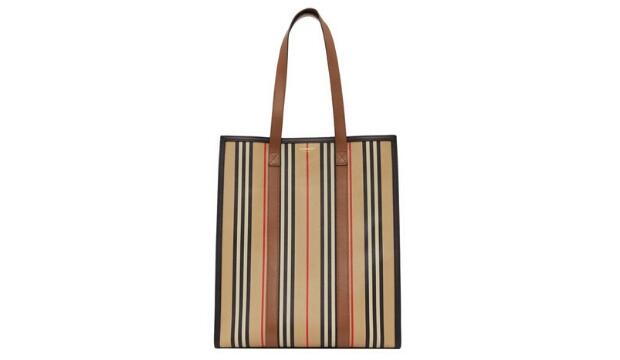 Burberry Icon stripe e-canvas tote bag, £830