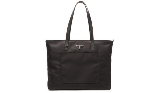 Prada triangle-plaque nylon tote bag, £710