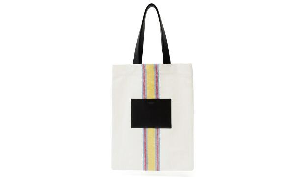 Jil Sander striped canvas and leather tote bag, £440