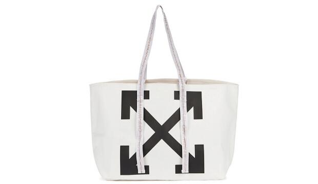 Off-White white logo canvas tote bag, £220
