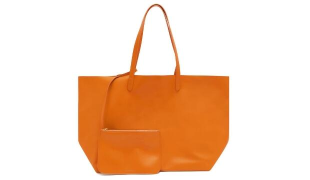 Mansur Gavriel leather tote bag and pouch, £570