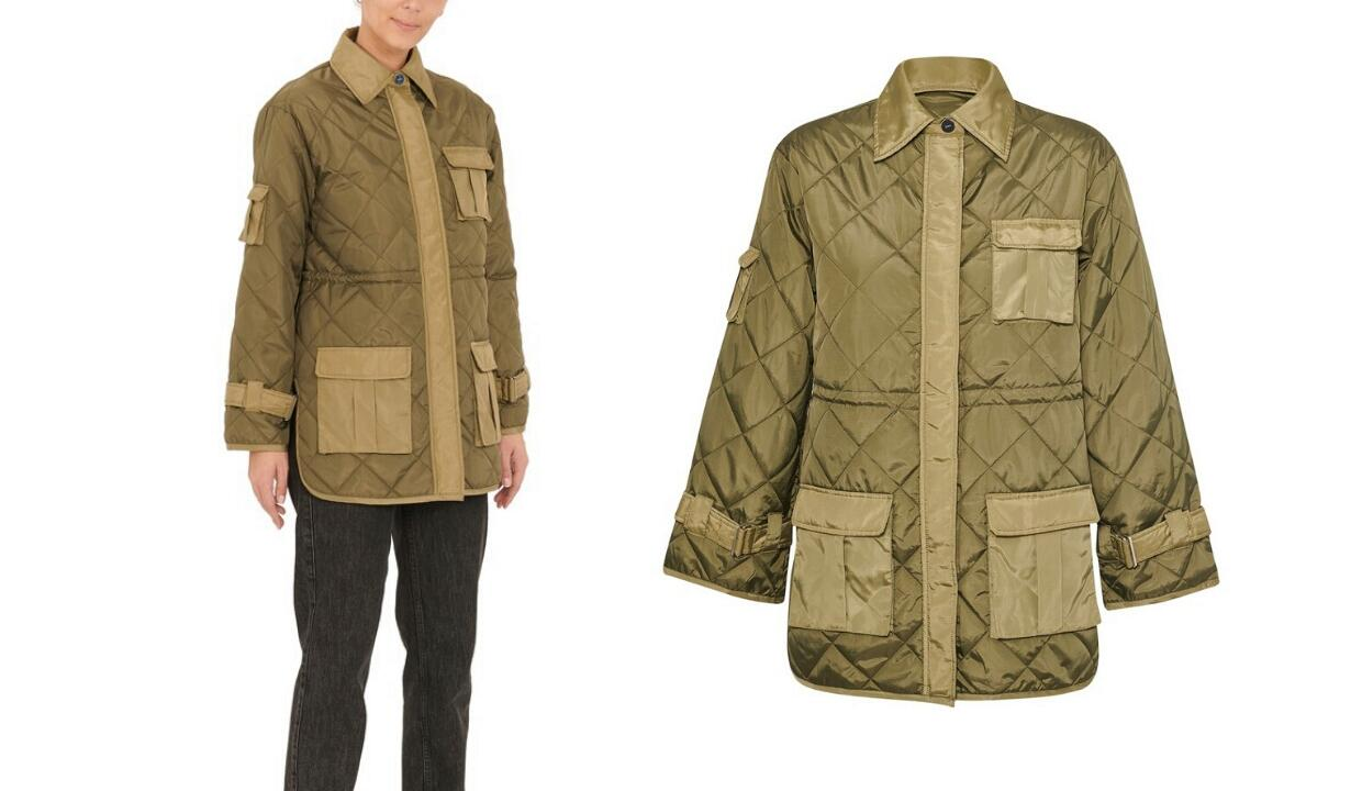 Ganni quilted jacket, £337