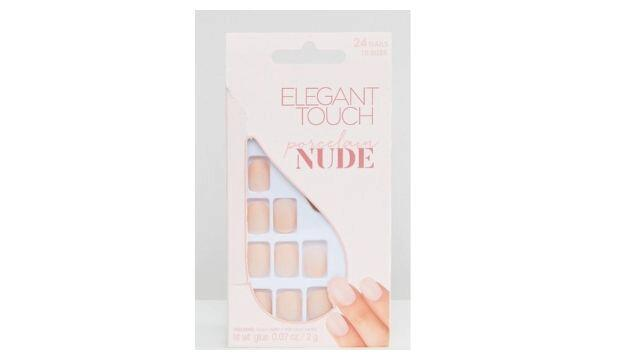 ​Elegant Touch Nude Collection Squoval Matte Nails at ASOS, £5