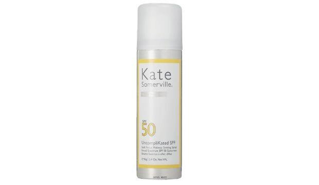 ​Best SPF spray for the face | Mature skin | Kate Sommerville UncompliKated Soft Focus Makeup Setting Spray SPF50, £32