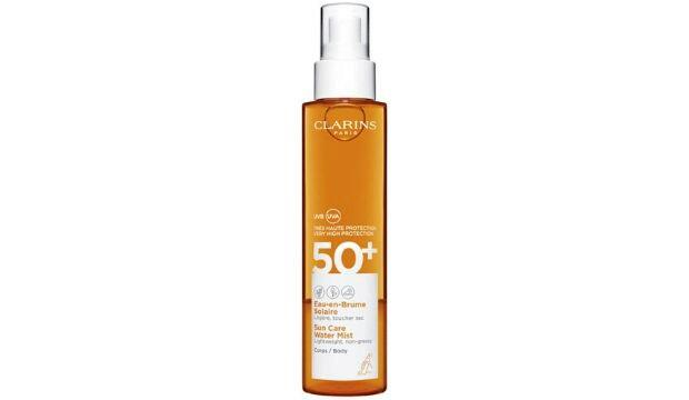 ​Non-oily SPF spray for the body  | Clarins Sun Care Water Mist SPF50+