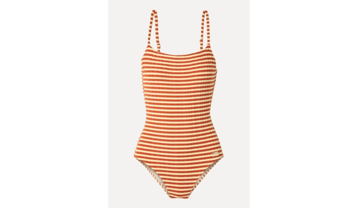 Solid & Striped the Nina striped ribbed swimsuit, £162.16