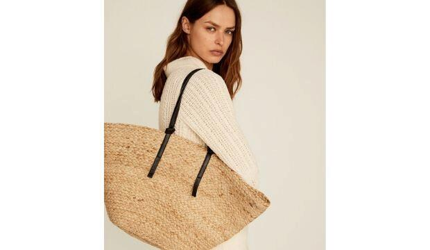 Jute Basket Bag, Mango