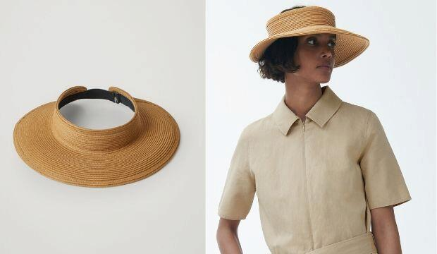 Oversized Brim Straw Visor, Cos