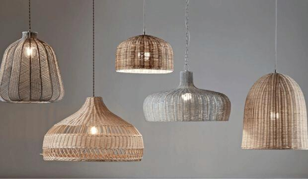 Rattan Lighting, Cox and Cox