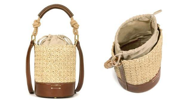 Mini Raffia and Leather Holly Bag, Vanessa Bruno