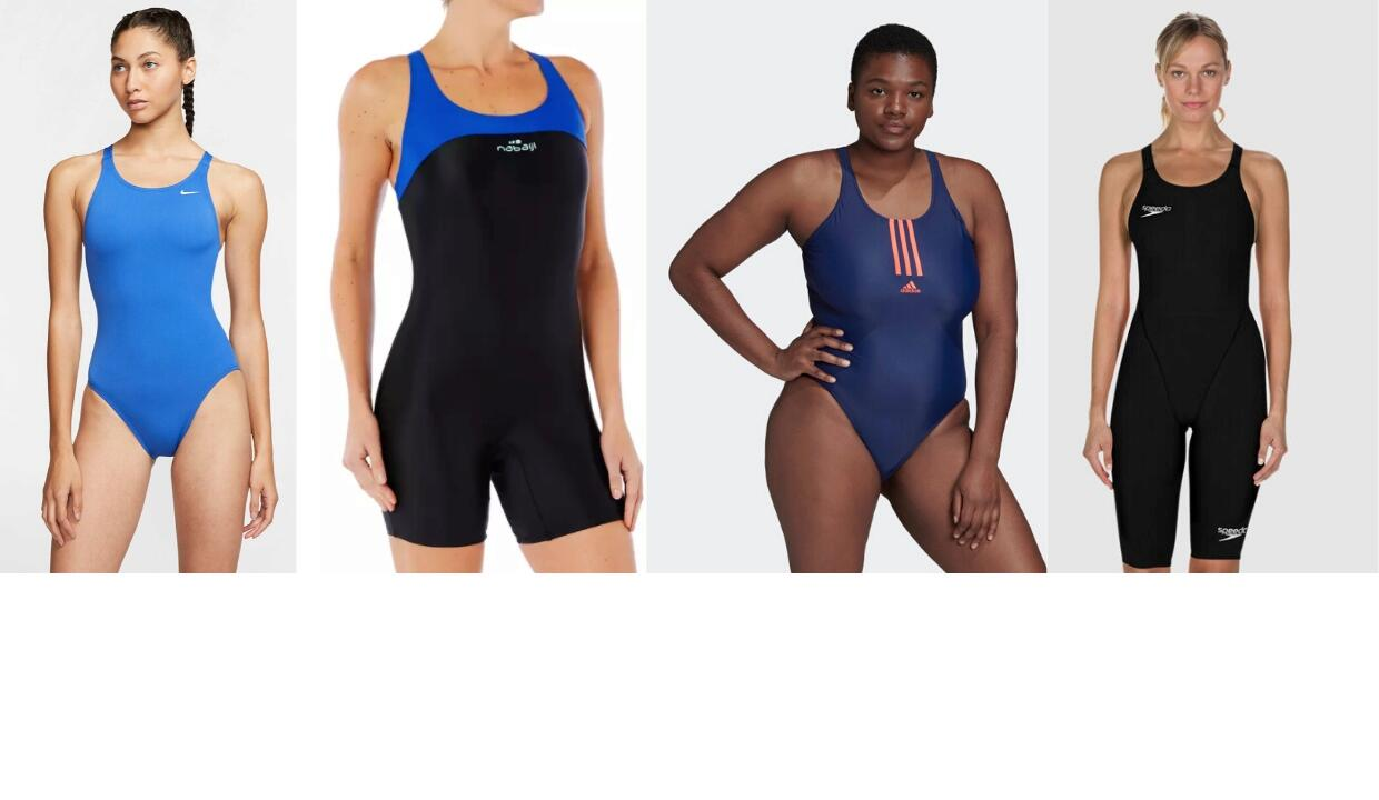 Sporty swimming costumes