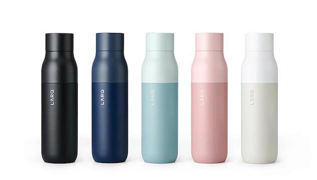 A self-purifying water bottle