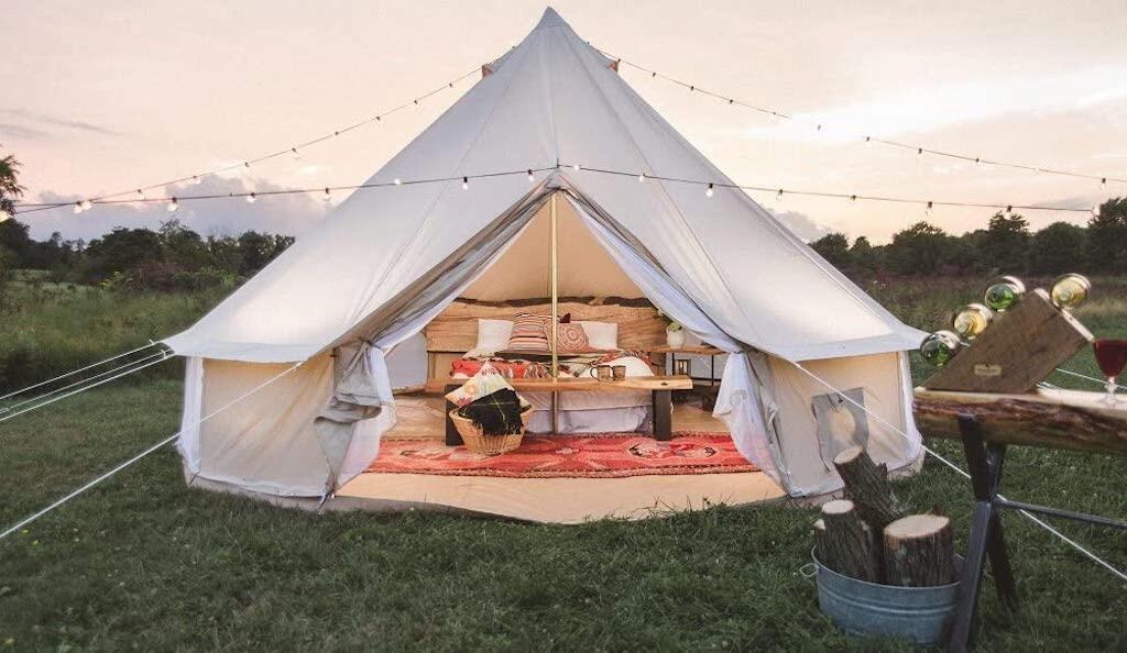Safari-style bell tent
