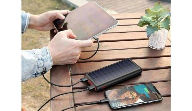 Solar-powered phone charger