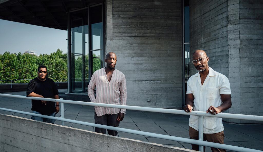 National Theatre: Roy Williams, Giles Terera, Clint Dyer. Photo by Helen Murray