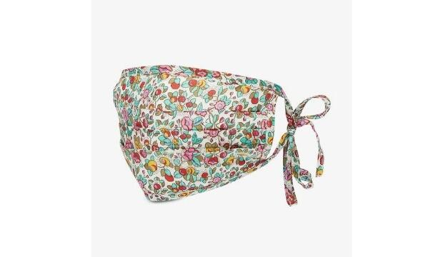 Rixo Hope floral print recycled silk-blend face covering, £26
