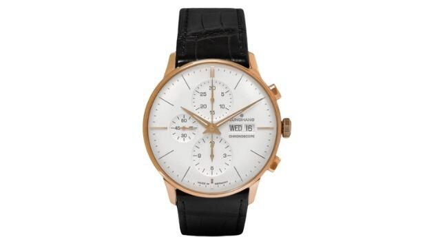 ​Junghans Max Bill Stainless Steel and Leather Watch, £1,780