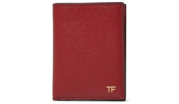 Tom Ford red textured-leather cardholder, £240