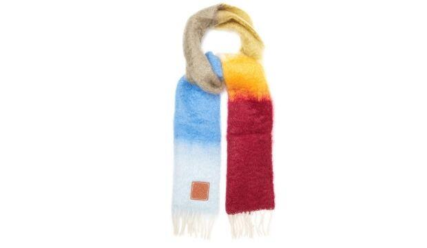 ​Loewe striped brushed mohair and wool scarf, £175