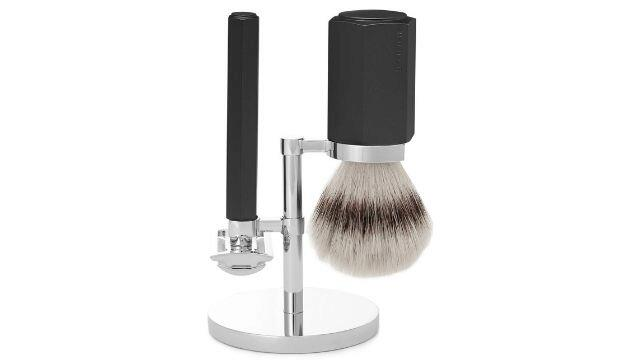 ​Mühle Hexagon Chrome-Plated and Graphite Three-Piece Safety Shaving Set, £132.50