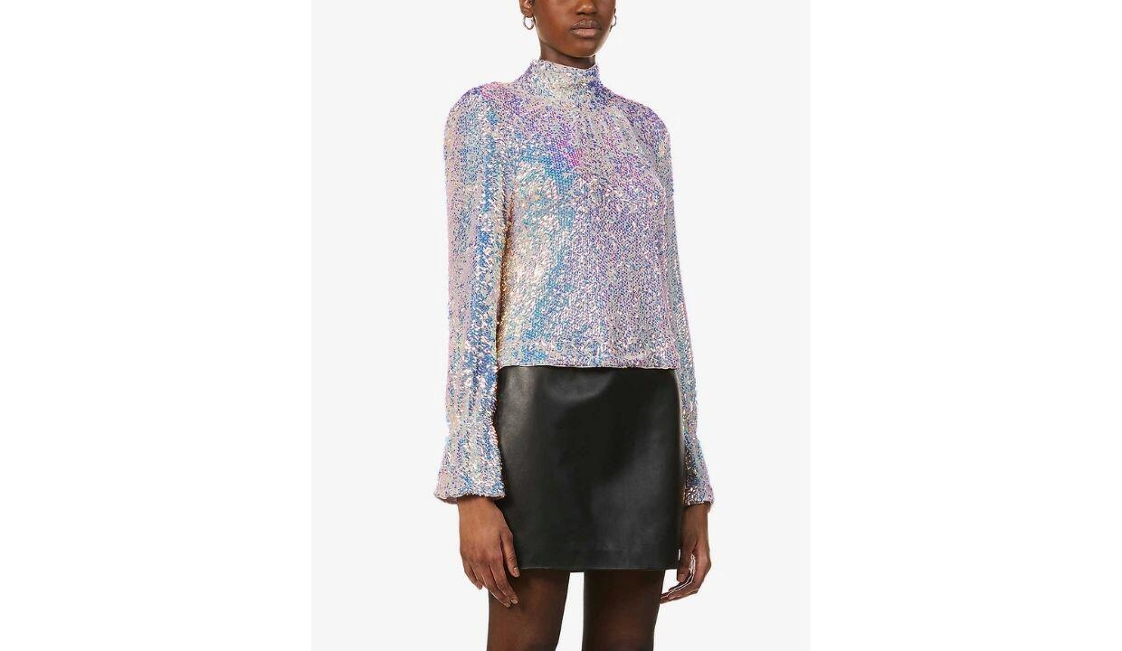 Free People sequin embellished woven top, £130