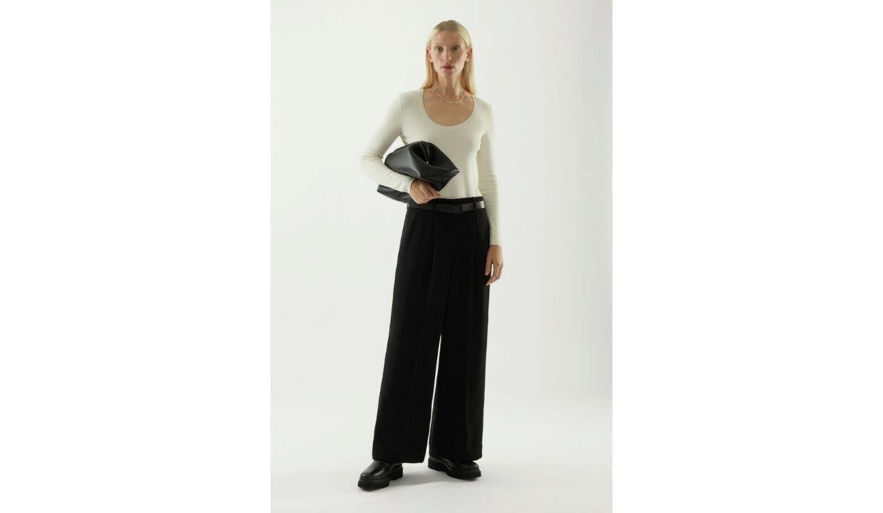 Cos high-waisted wide-leg trousers, £79
