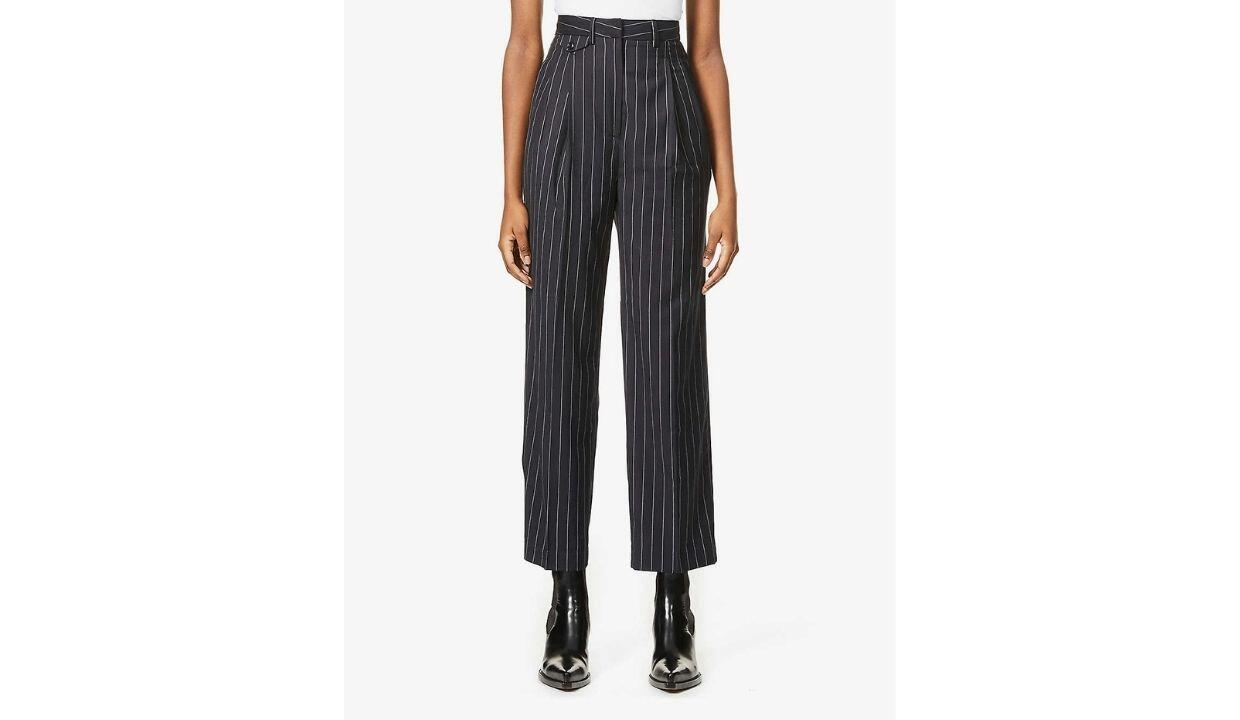Frankie Shop Boy striped high-rise woven trousers, £155