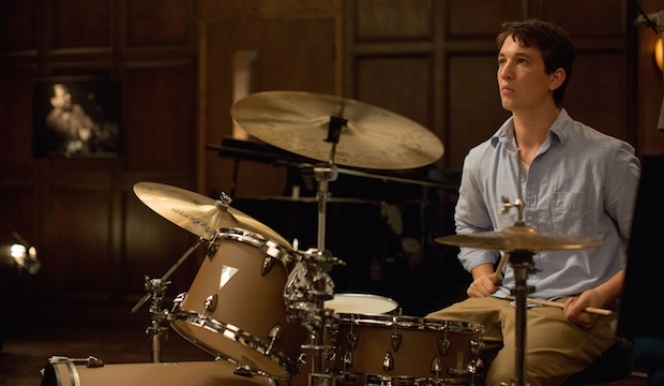 Newcomer Miles Teller plays aspiring young drummer Andrew in 'Whiplash'