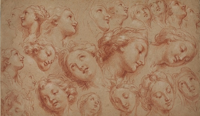 Michel, the Younger Corneille (1642-1708)  Study of heads