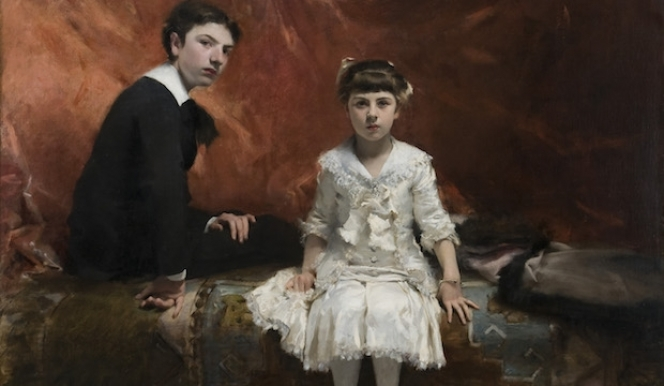 Copyright: Des Moines Art Center, Des Moines, Iowa  Édouard and Marie-Louise Pailleron by John Singer Sargent, 1881