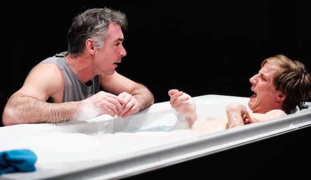 Greg Wise and Oliver Gomm in Kill Me Now, Park Theatre