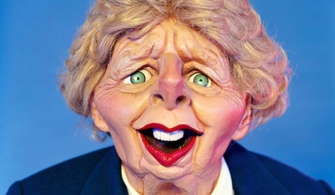Spitting- Margaret Thatcher, Pigment print, 2015