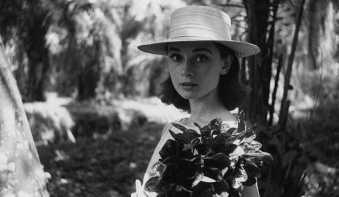 Audrey Hepburn on location in Africa for The Nun's Story by Leo Fuchs, 1958, copyright Leo Fuchs