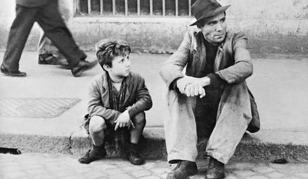 Still from the Bicycle Thieves, Vittorio de Sica