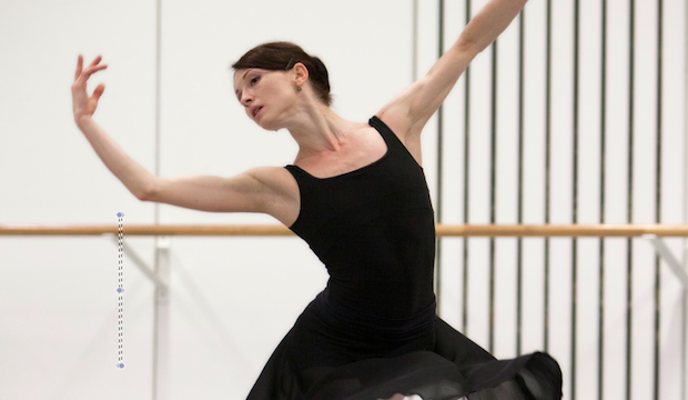 Anna Tsygankova, ballet rehearsal for Cinderella. Photo by Angela Sterling