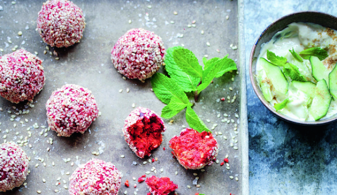 Healthy detox recipe: beetroot falafel