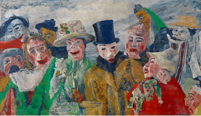James Ensor artist, The Intrigue, 1890, © Royal Museum for Fine Arts Antwerp / www.lukasweb.be – Art in Flanders vzw. Photography: Hugo Maertens / © DACS 2015, Royal Academy London