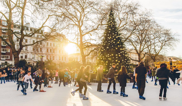 Winter activities for families: ice skating at the Natural History Museum
