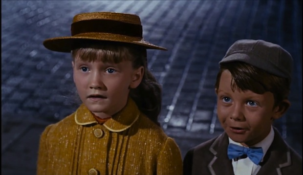Karen Dotrice and Matthew Garber playing Jane and Michael Banks in Mary Poppins