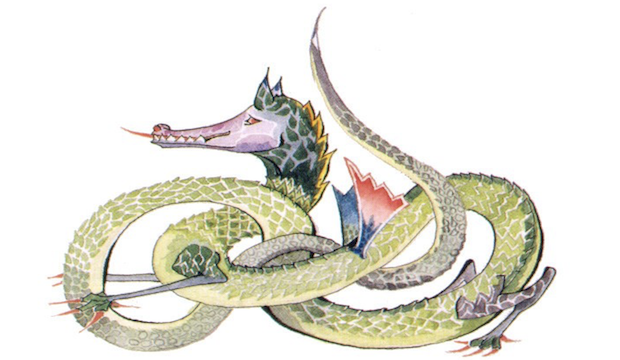 Tolkien Reading Day, Discover Children's Story Centre: Tolkien original illustration dragon
