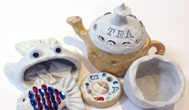 Teapots and Trinkets. May half-term events, Postal Museum