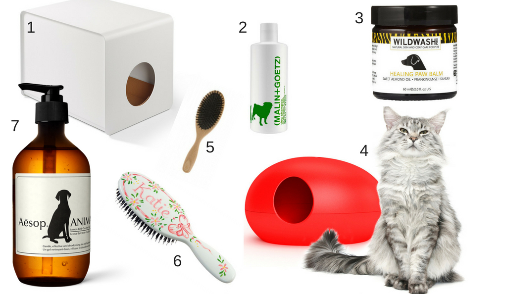 stylish litter tray, luxury dog shampoo,