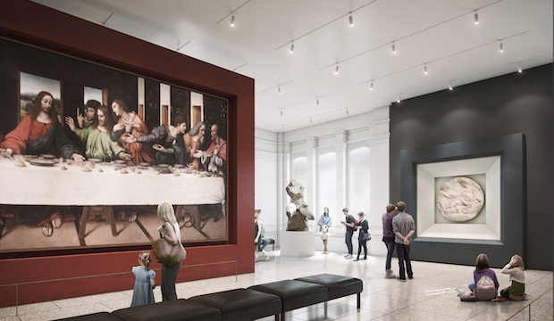 A vision of the RA Collection gallery following the renovation