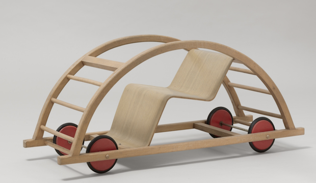 Century of the Child: Nordic Design for Children, V&A Museum of Childhood. Hans Brockhage and Erwin Andrä. Schaukelwagon Rocking car