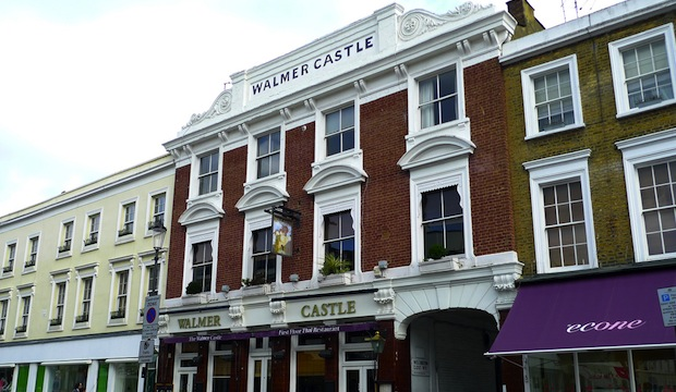 The Walmer Castle Pub in Notting Hill