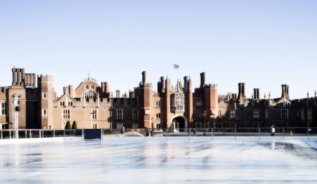 Winter activities for families: ice skating at Hampton Court palace