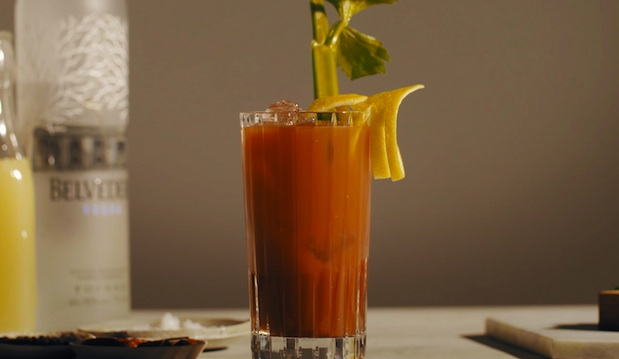 Clos19's Bloody Mary made with Belvedere vodka