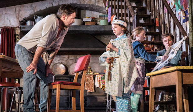 Paddy Considine, Sophia Ally, Elise Alexandre and Rob Malone in The Ferryman. Photo by Johan Persson
