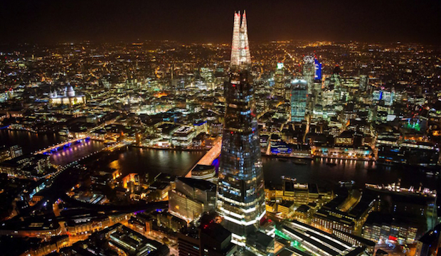 Winter activities for families: Christmas film screening atop the Shard