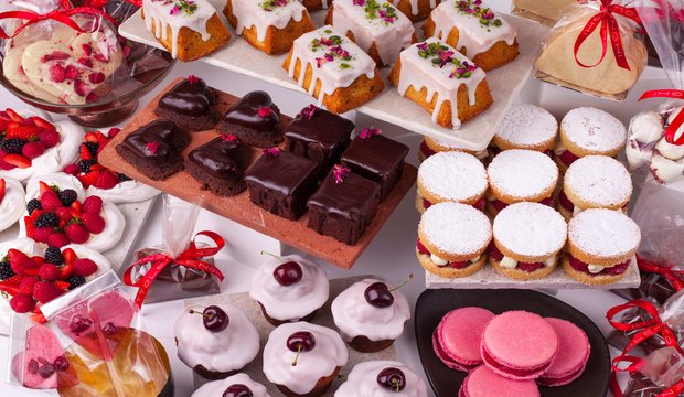 Selection of Cakes at Ottolenghi. Image credit: Jimmy Leveille